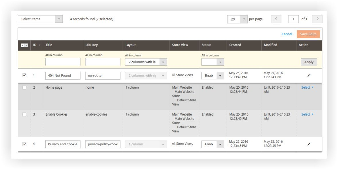 Have you used these Magento2 admin panel smart features?
